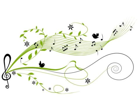 Warbler green music notes